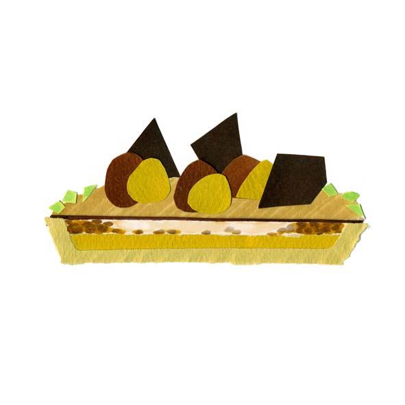 ケーキの切り絵イラスト