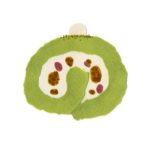 ロールケーキの切り絵イラスト