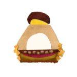 モンブランのケーキの切り絵イラスト