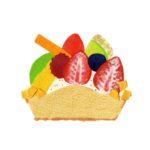 タルトケーキの切り絵イラスト
