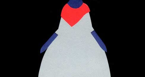 三つ編みの女の子のシンプルな切り絵イラスト