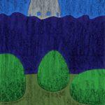 original works 切り絵コラージュ「夜の公園」