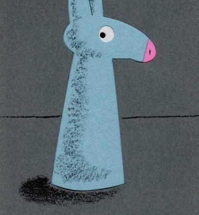 馬のシンプルな切り絵イラスト