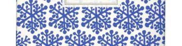 お菓子パッケージの雪の結晶を描いたイラスト