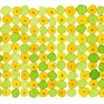 水彩で描いた柚子をイメージした模様のパッケージイラスト