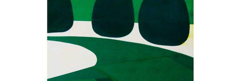 庭を描いた絵画作品