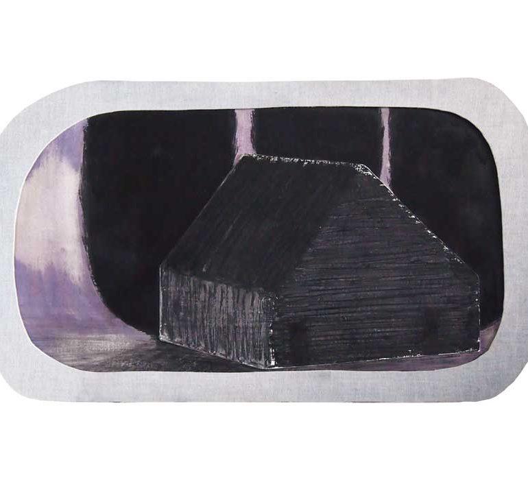 家を描いた絵画作品