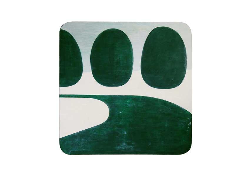 芝生の道を描いた絵画作品