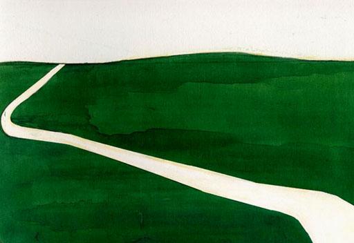 草原の道の絵画作品