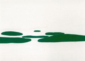 浮島を描いた絵画作品