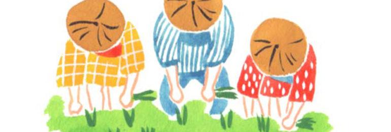 田植えの水彩イラスト