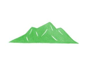 山の水彩イラスト