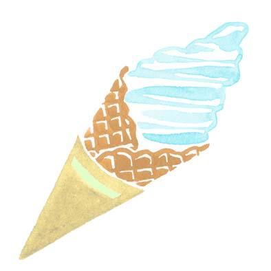 ランドネの水彩で描いた食べ物イラスト