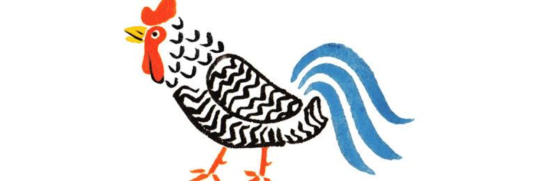 和風に水彩で描いた鳥