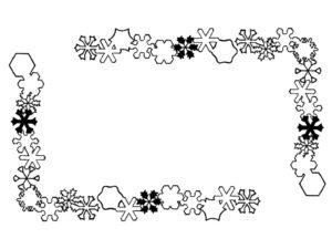 雪の結晶のドローイング