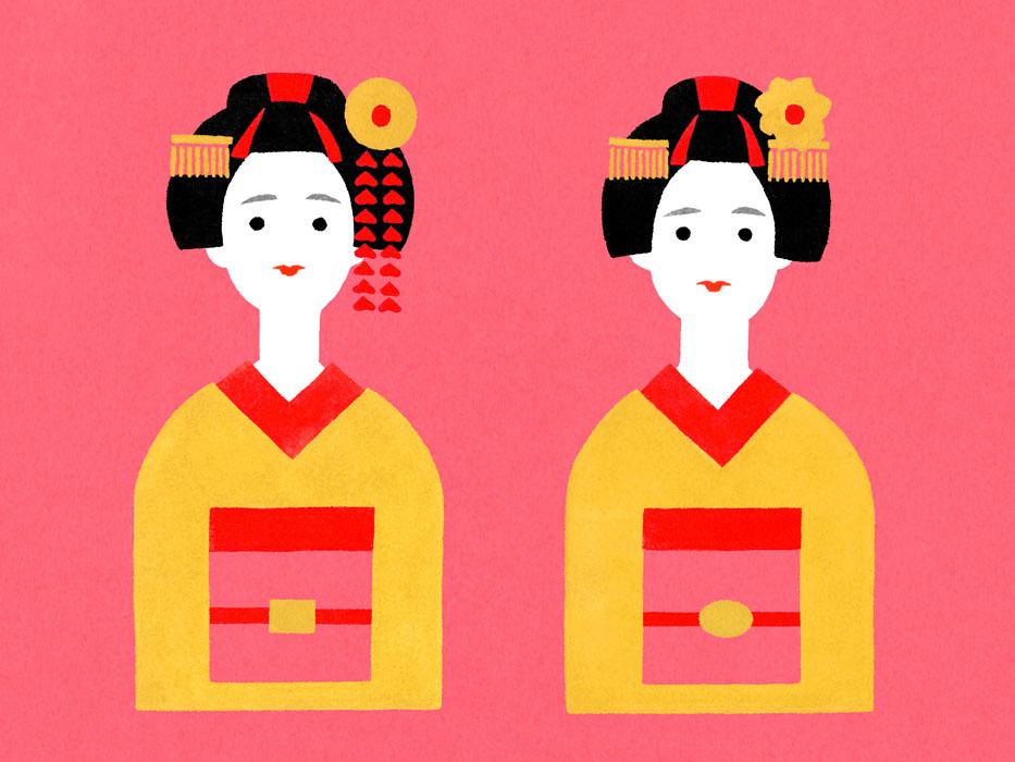 舞子さんの水彩イラスト