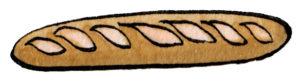 パンのドローイングイラスト