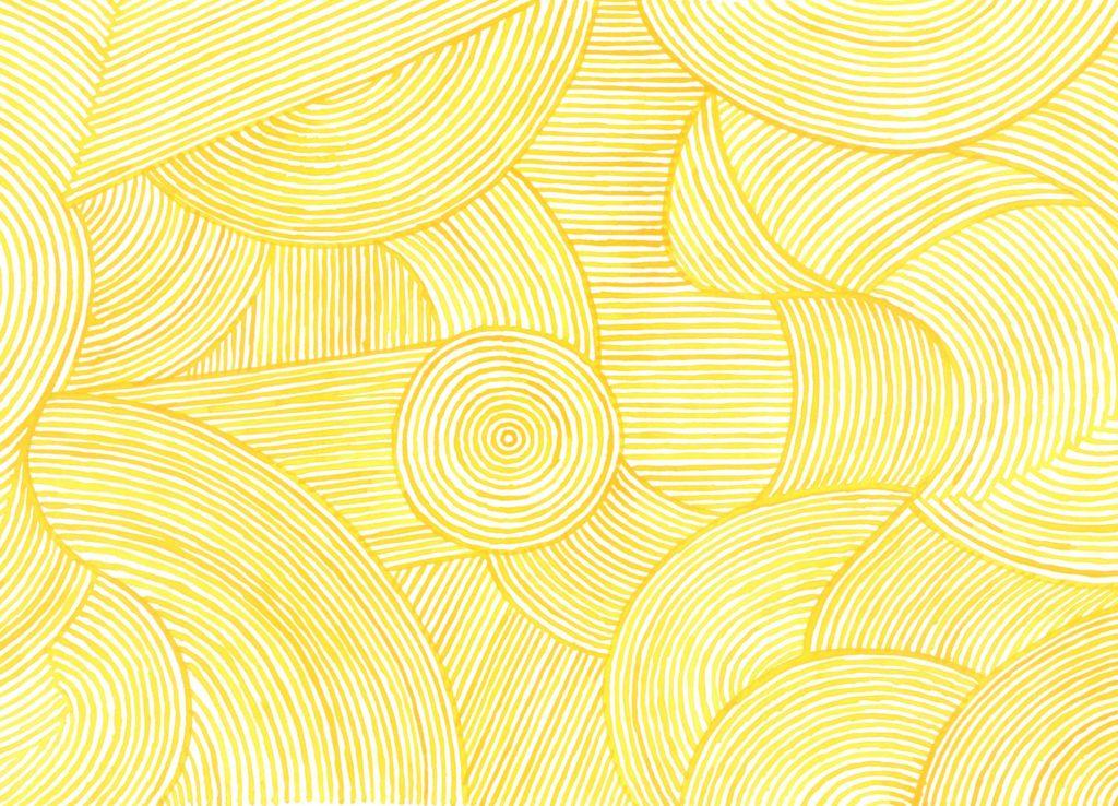 千年こうじやパッケージ水彩パターンイラスト