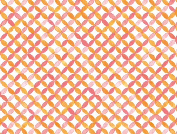 和柄パターンの水彩イラスト