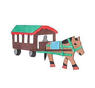 十勝地方の情報を発信するウェブメディア「トカチナベ」の馬車のイラスト