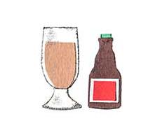 十勝地方の情報を発信するウェブメディア「トカチナベ」の旅のはじまりのビールのイラスト