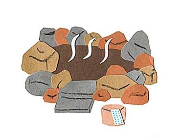 十勝地方の情報を発信するウェブメディア「トカチナベ」のモール温泉のイラスト