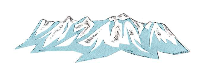 十勝地方の情報を発信するウェブメディア「トカチナベ」の十勝連山のイラスト