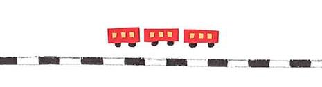 十勝地方の情報を発信するウェブメディア「トカチナベ」の電車のイラスト
