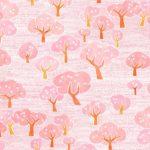 キリン生茶のHANAMIイベント風呂敷の水彩パターン桜イラスト