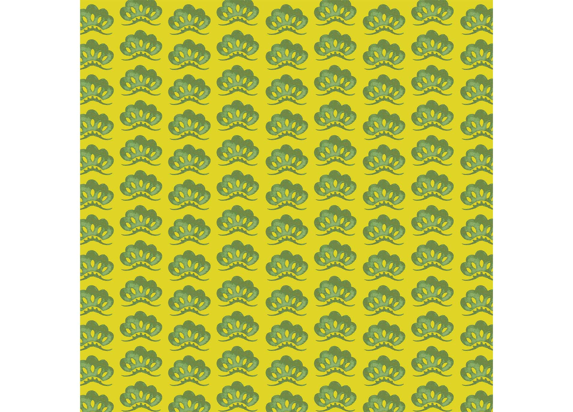 松葉の模様で描いた和柄パターン