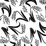 稲のモノトーンイラスト