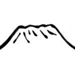 山のドローイングイラスト