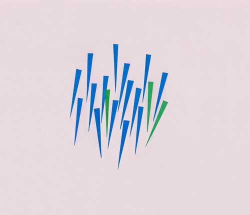 雨をイメージしたシンプルな切り絵イラスト