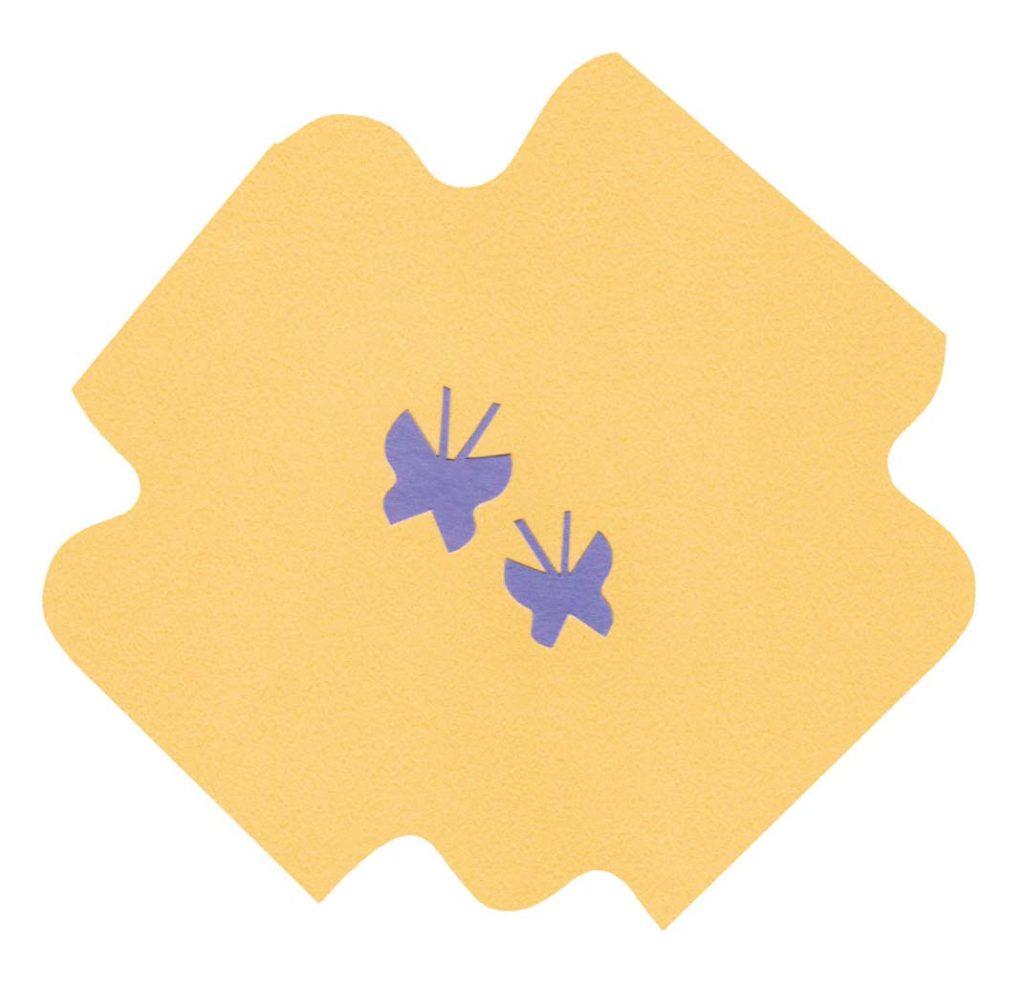 蝶々をイメージしたシンプルな切り絵イラスト