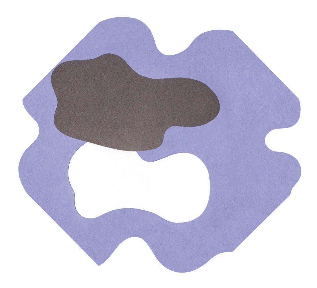 雲をイメージしたシンプルな切り絵イラスト