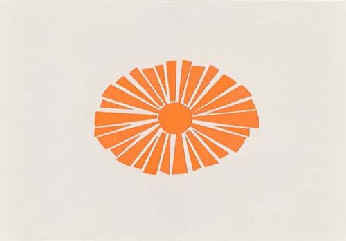太陽をイメージしたシンプルな切り絵イラスト