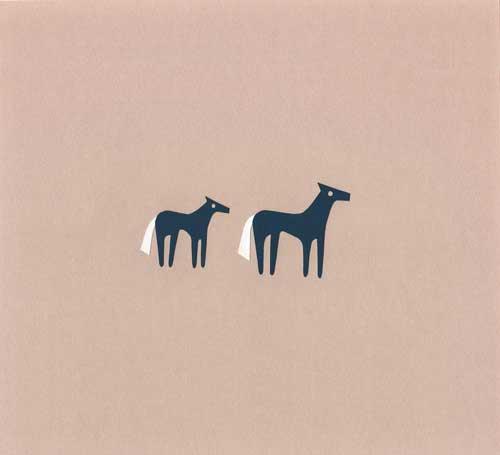馬をイメージしたシンプルな切り絵イラスト