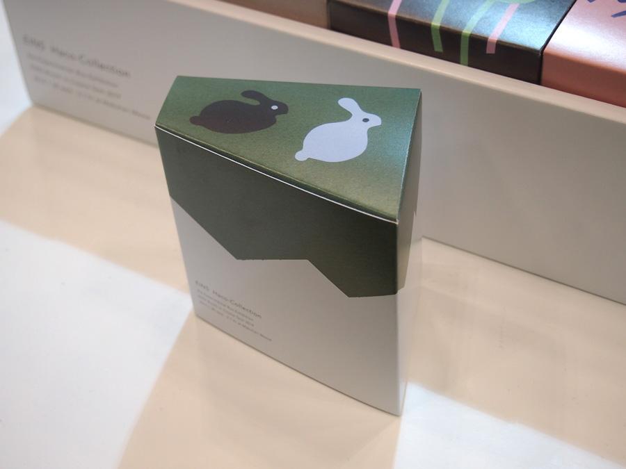 ウサギの切り絵イラストで表現したパッケージの箱