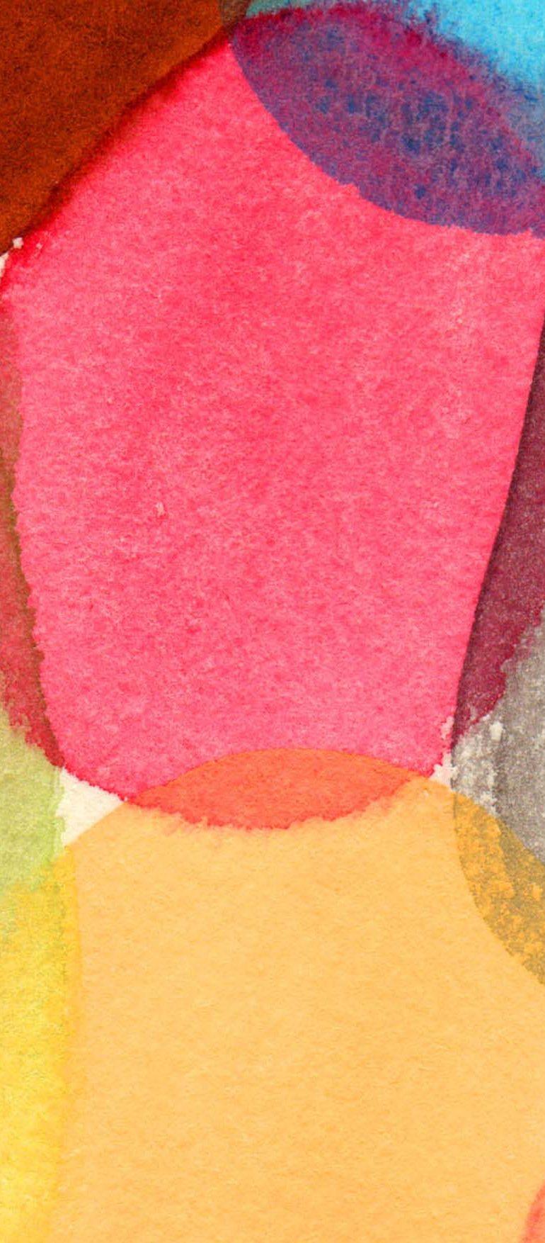 ジェラートのフレーバーをイメージした水彩で描いた模様イラスト