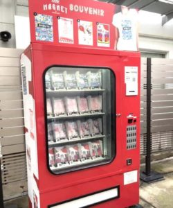 渋谷109とコラボしたTシャツが売っているスーベニア自販機