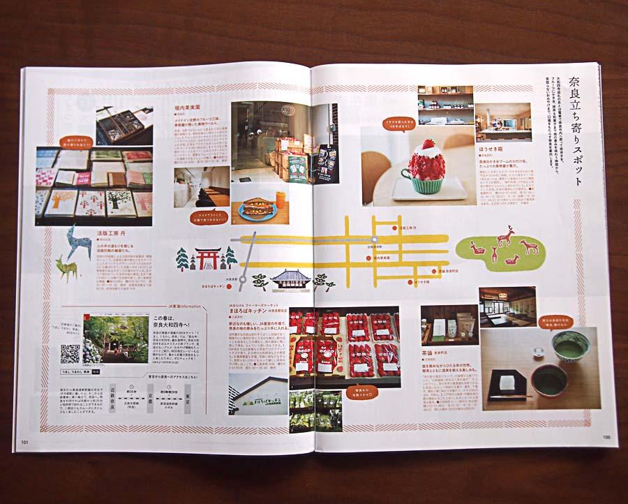 雑誌ananの開運行動学特集の京都奈良のイラストマップ