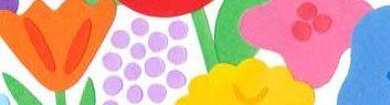 色とりどりの花のイラストレーション