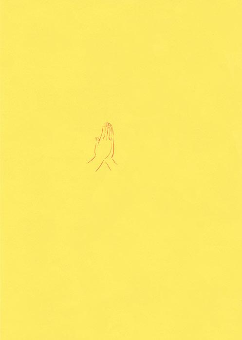 線画で描いた人の手のイラスト