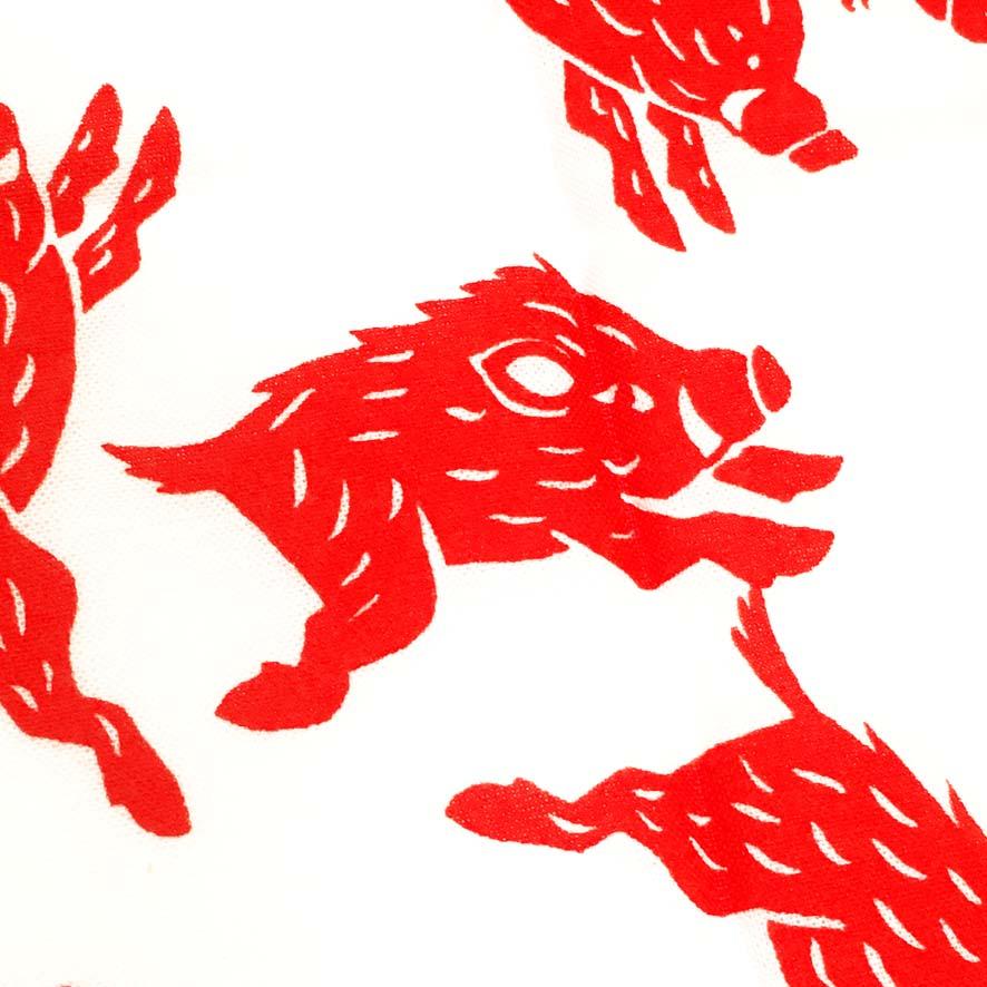 お年賀の手拭いように制作した干支の亥イラスト