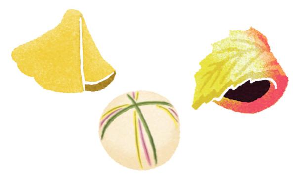 和菓子の和風イラスト