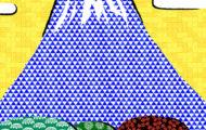 和風文様を使用した風景イラスト