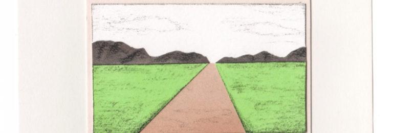 道を題材にした切り絵作品