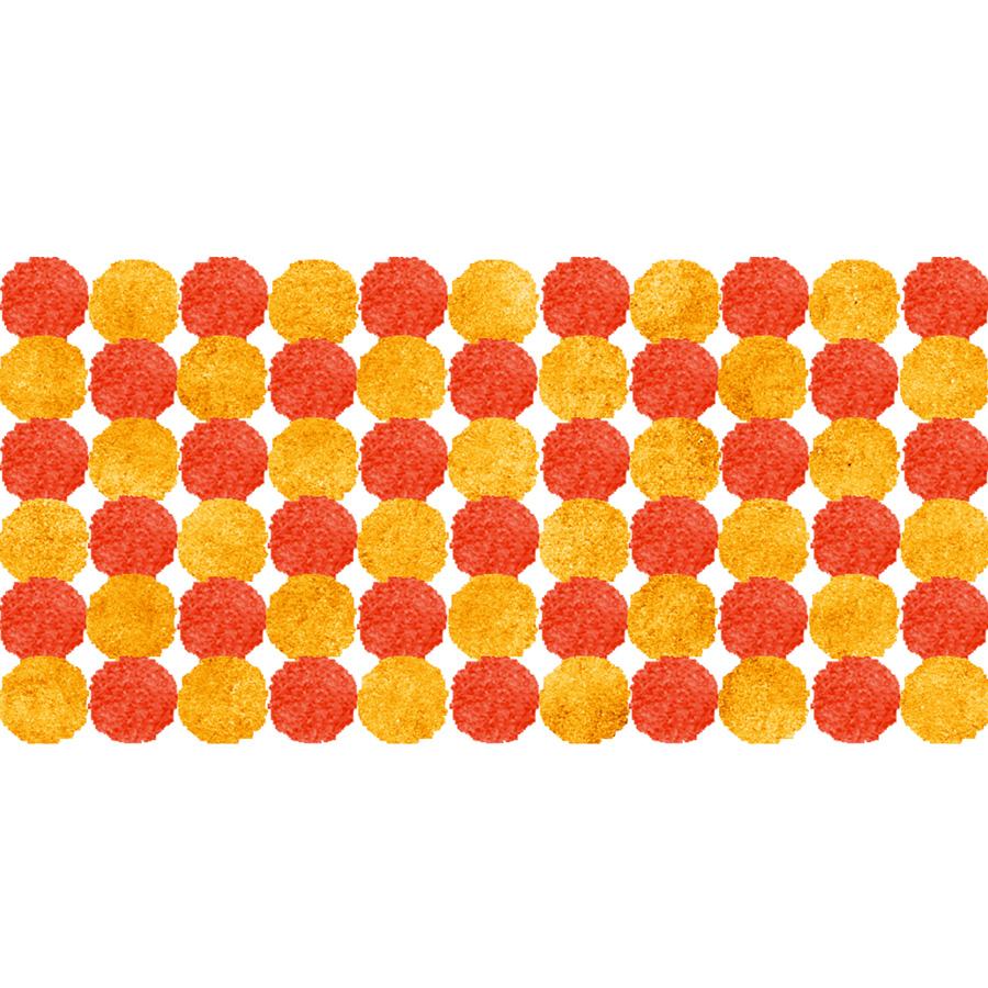 水彩水玉パターン