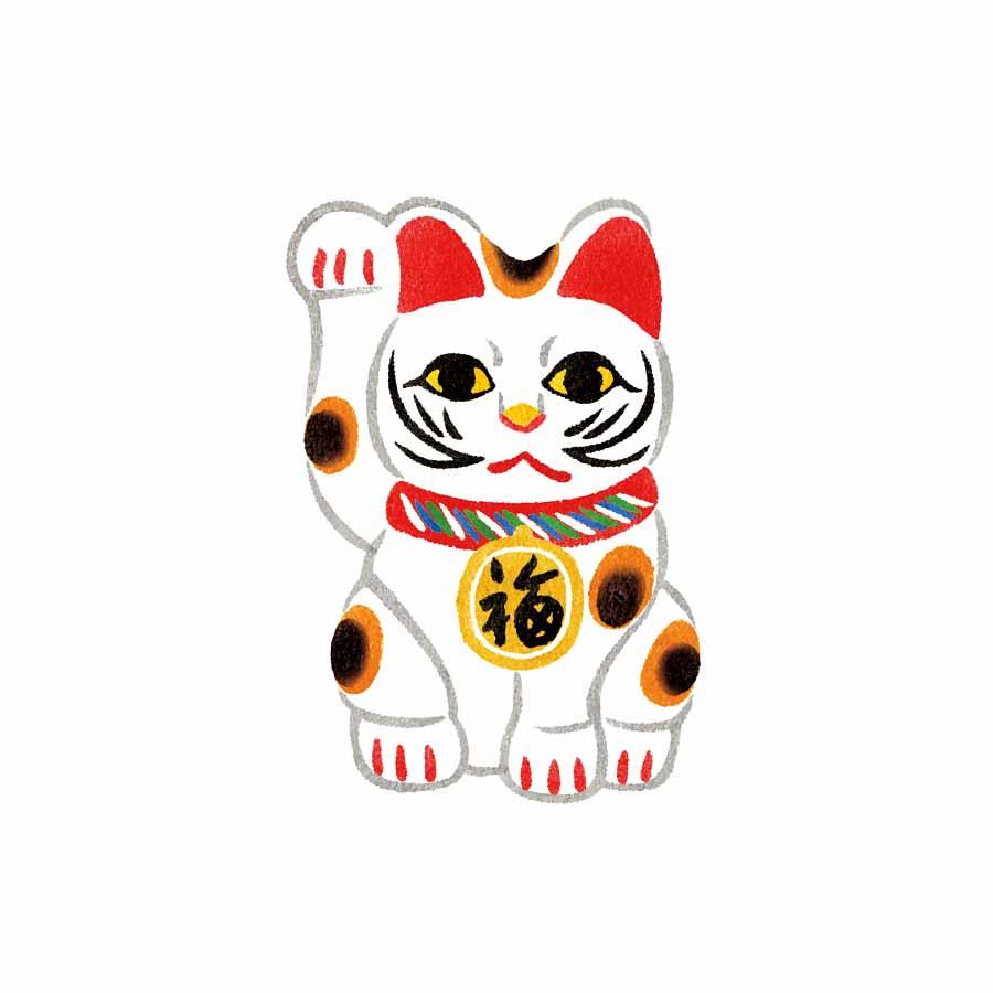 和風の招き猫のイラスト