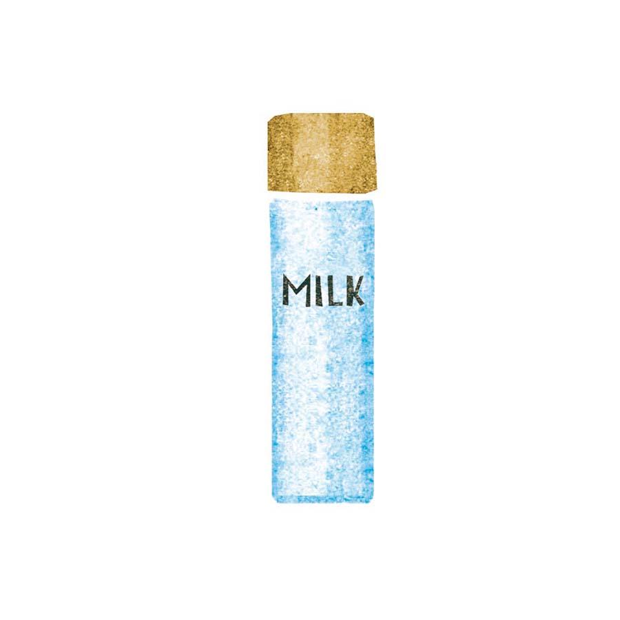 美容ミルク水彩イラスト